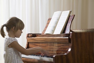 Children Learning Piano